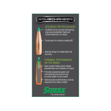 Sierra GameChanger Tipped GameKing Bullets 30 Caliber (308 Diameter) 165 Grain Polymer Tipped Spitzer Boat Tail Box of 100  4665