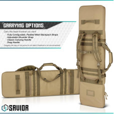 "Savior Equipment Urban Warfare Tactical 46"" Double Rifle Case 46DRC"