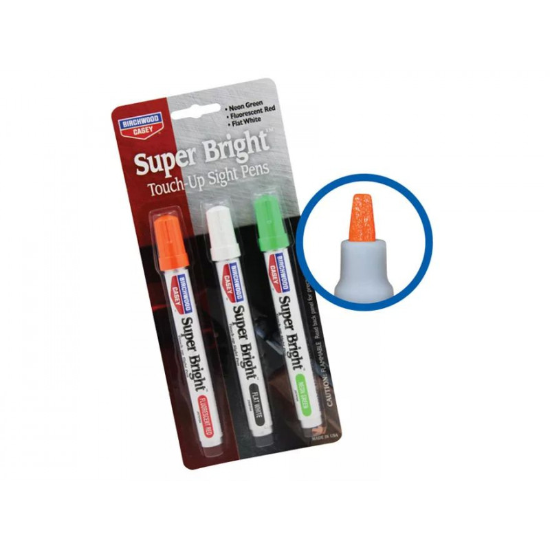 Birchwood Casey Super Bright Touch-Up Sight Pens Neon Green and Red 15116