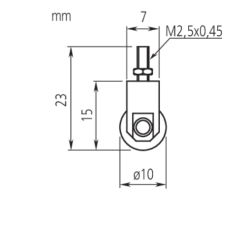 Mitutoyo Contact Element Roller Point 901991