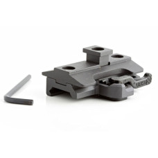 Atlas Bipods LD 1//4-20 Lever Adapter with ADM 170-S Lever Black BT56-L