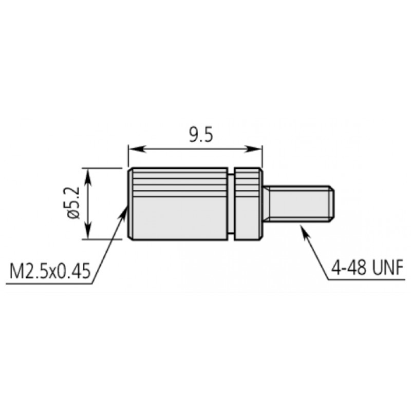 Mitutoyo Adapter M2,5x0,45 to 4-48 UNF 21AAA011