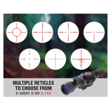 ATN X-Sight II Smart HD Optics Rifle Scope 3-14x Day/Night Digital Night Vision Matte DGWSXS314Z