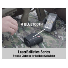 ATN LaserBallistics 1000 Laser Rangefinder with Ballistic Calculator and Bluetooth Connectivity Black LBLRF1000B