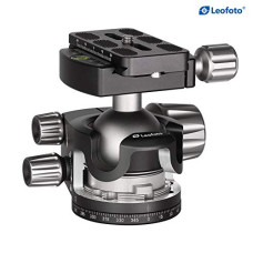 Leofoto LH-55 55mm Low Profile Ball Head Arca / RRS Compatible w Independent Pan Lock LH-55