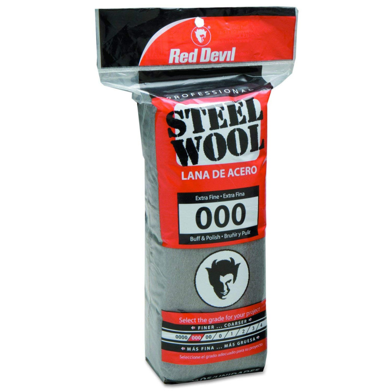 Red 0311 Steel Wool, 000 Extra Fine, (Pack of 16) 0311