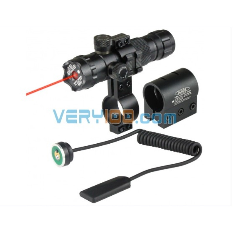 VERY100 Tactical New 532nm Red Dot Laser 2 Mounts Picatinny Rails 20mm + Pressure Switch 11010368