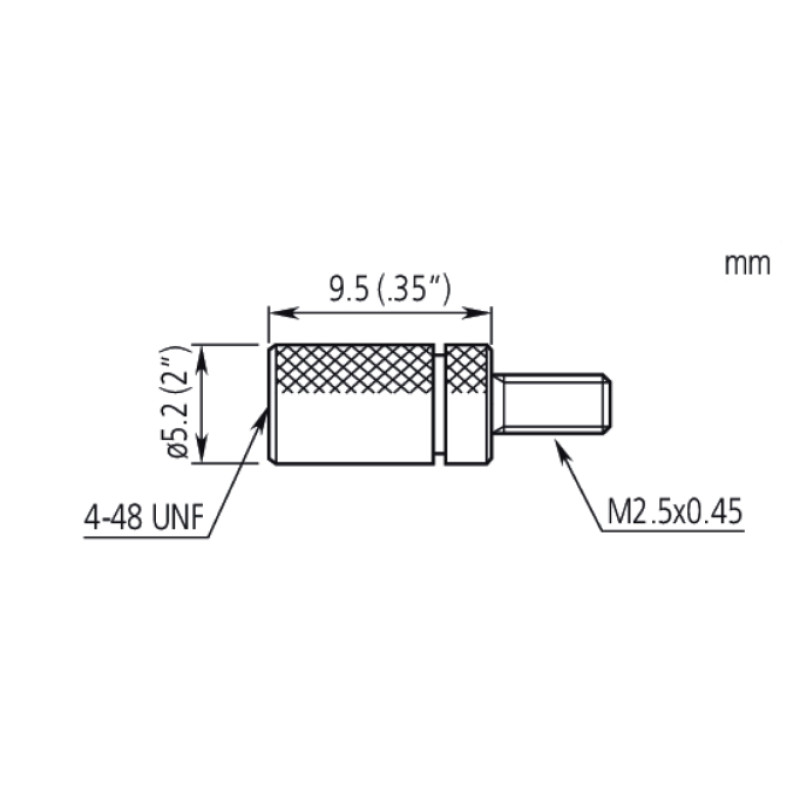 Mitutoyo Adapter 4-48 UNF to M2,5x0,45 21AAA012
