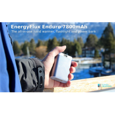 EnergyFlux Enduro Rechargeable Hand Warmer 7800mAh, Power Bank, with 55lm LED Flashlight  B00Q7Q2KFO